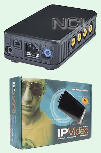4-канальный видеосервер со входом звука aviosys IP Video 9100A Plus