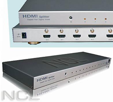 HDMI splitter w/switch 4->8 Digi Media SP-428