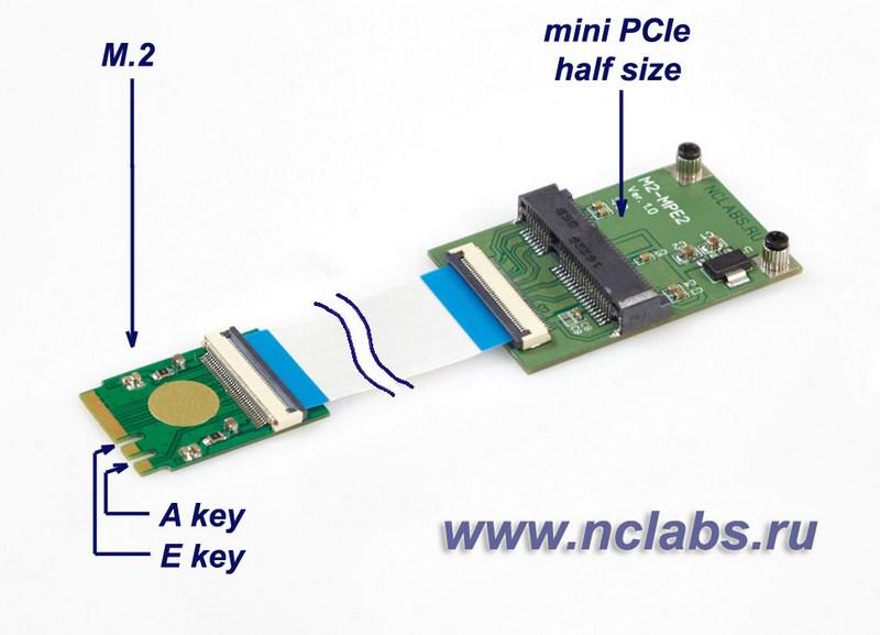 Адаптер mini PCIe в M2 NCL GC-M2MPE2F