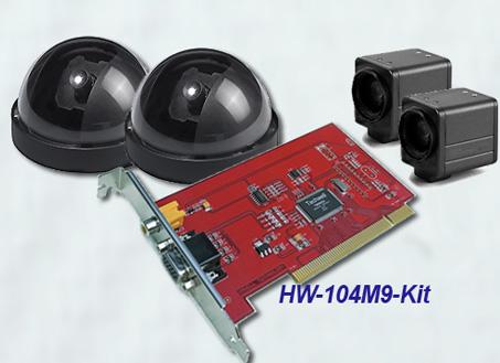 Комплект для видеонаблюдения на базе платы видеозахвата HW-104M9 NCL HW-104M9-Kit-2