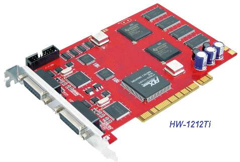 Плата видеозахвата с аппаратным сжатием, 12+12 входов, 300fps Hawell HW-1212Ti