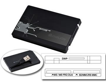 Карт-ридер внешний (cчитыватель смарт-карт и карт памяти) digilion USB-K100