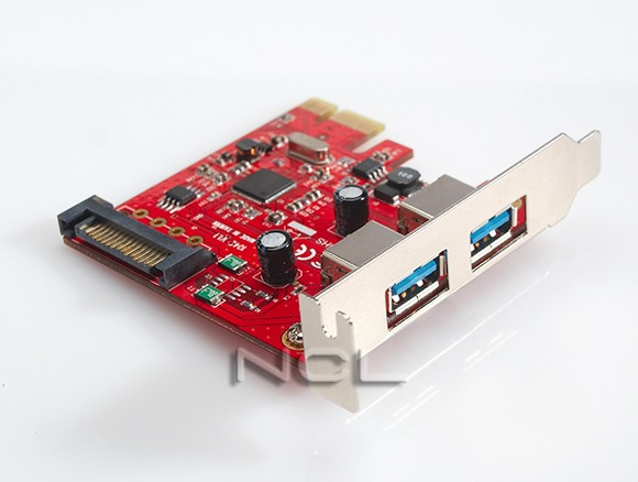 Контроллер USB PCI (3+1+1), чип Asmedia, low profile megapower MP1042EL