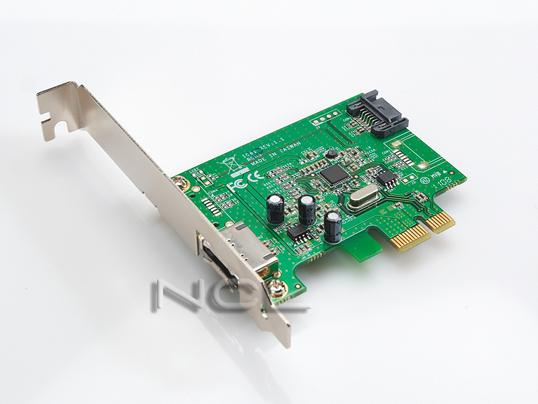 контроллер SATA PCI-e (1*SATA III + 1*eSATA III PCI-E) Megapower MP1061-E
