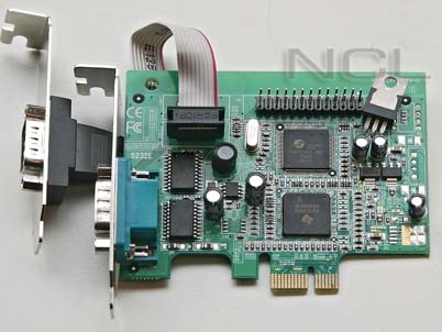 Мультипортовая плата Dual serial / single parallel port PCI-E, Oxford chip, Low Prof. (низкопрофильный) megapower MP5232ELPR2