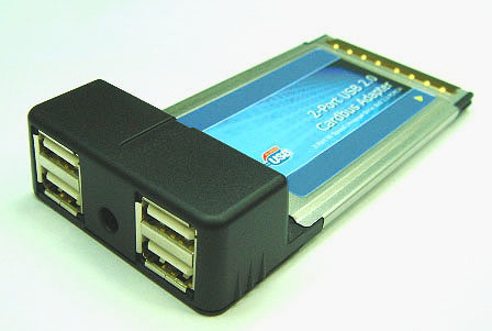 USB 2.0 PCMCIA/Cardbus adapter – адаптер с 4 портами USB2.0 для шины PCMCIA/Cardbus megapower MP6212CB-4U