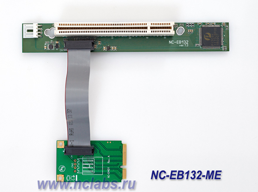 Flexible riser adapter PCI to mini PCI-e NCL NC-EB132ME