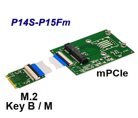 M.2 to mini PCIe adapter NCL P14S-P15Fm