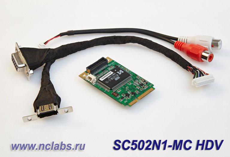 Плата видеозахвата HDMI/VGA/YPbPr mini PCIe NCL SC502N1-HDV