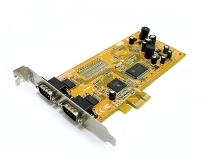 Плата последовательных портов (2*RS-232) для шины PCI Express sunix SER4437A