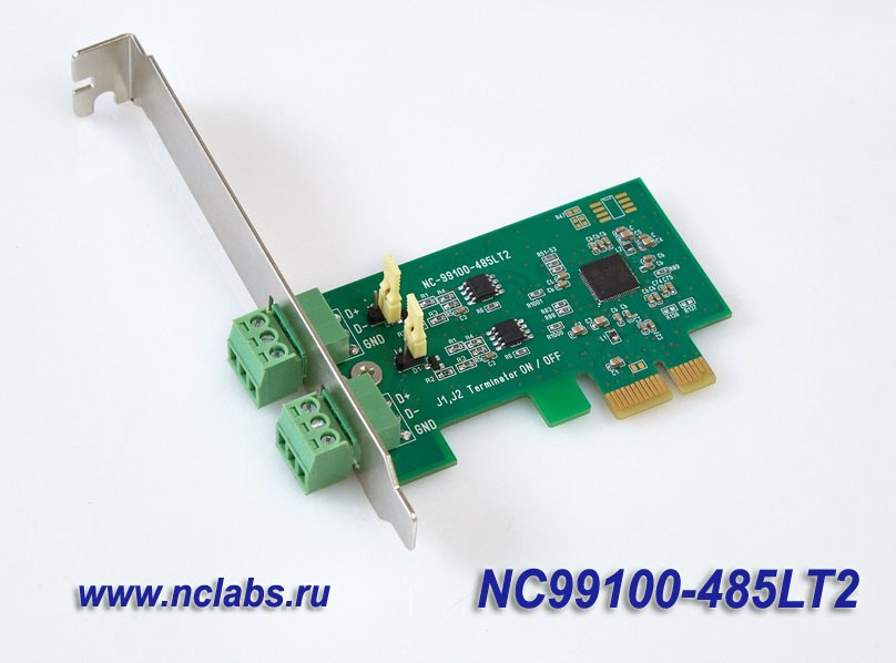 2*RS-485 PCI Express multiport board